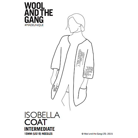 Buy Wool and the Gang Women's Isobella Coat Knitting Paper