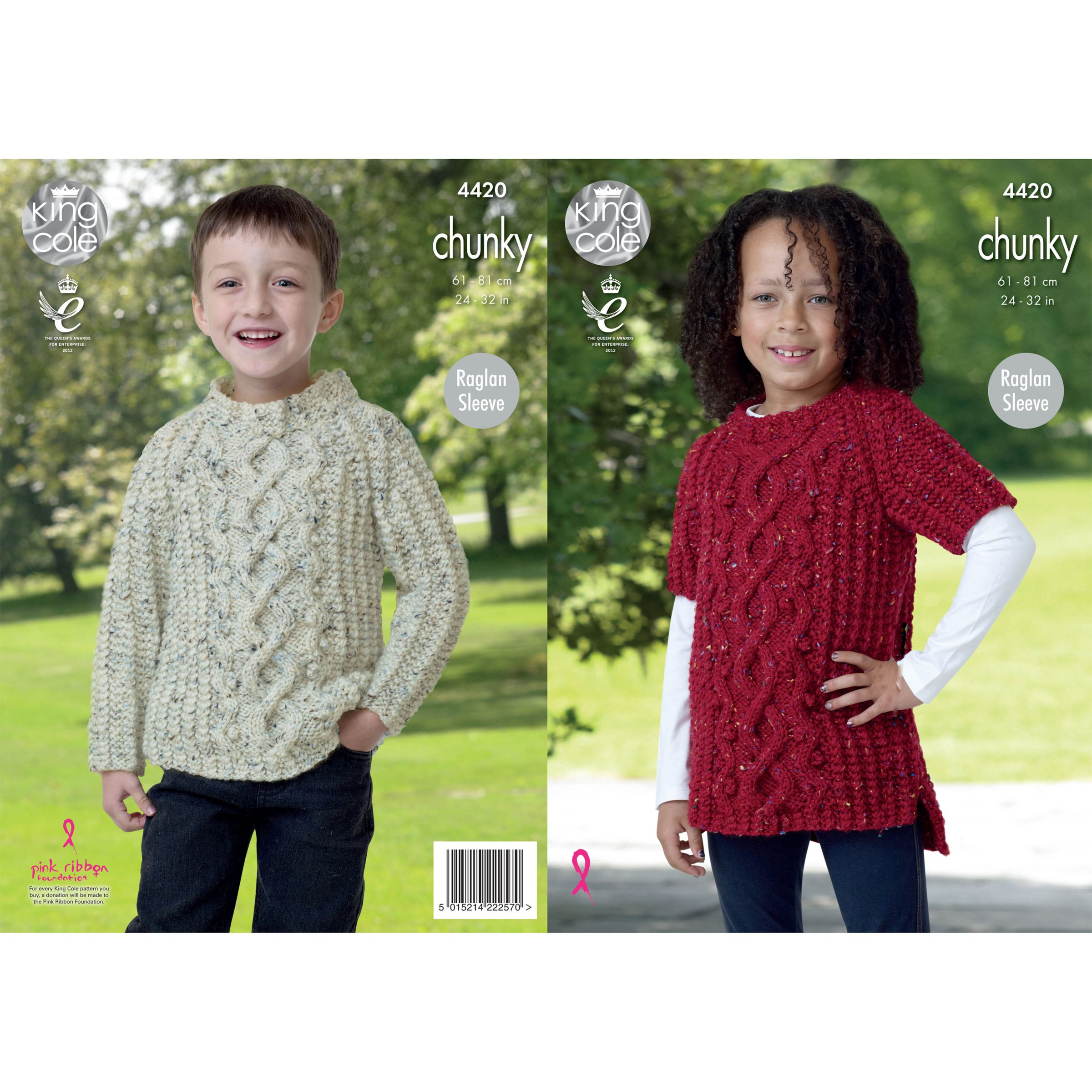 Knitting Patterns Childrens Jumpers : Buy King Cole Chunky Childrens Jumper Knitting Pattern, 4420 John Lewis