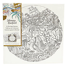 Buy Johanna Basford Lost Ocean Ship At Sea Colouring Canvas Online at johnlewis.com