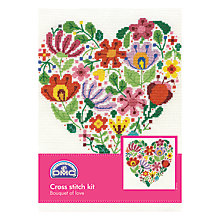 Buy DMC Creative Bouquet of Love Cross Stitch Kit Online at johnlewis.com