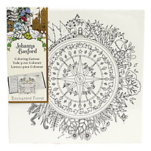 Buy Johanna Basford Enchanted Forest Compass Colouring Canvas Online at johnlewis.com