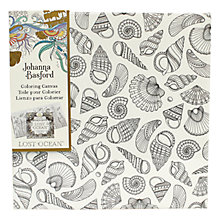 Buy Johanna Basford Lost Ocean Seashells Colouring Canvas Online at johnlewis.com