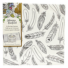 Buy Johanna Basford Enchanted Forest Feathers Colouring Canvas Online at johnlewis.com