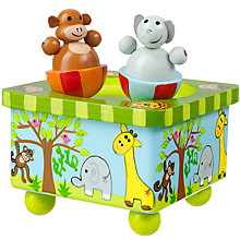 Buy Orange Tree Wooden Safari Music Box Online at johnlewis.com