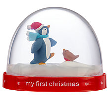 Buy John Lewis My First Christmas Snow Globe, 7.5cm Online at johnlewis.com