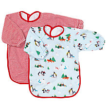 Buy John Lewis Baby Christmas Terry Bib, Pack of 2 Online at johnlewis.com