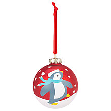 Buy John Lewis My First Christmas Penguin Bauble Online at johnlewis.com