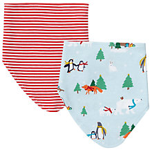Buy John Lewis Baby Christmas Dribble Bib, Pack of 2 Online at johnlewis.com