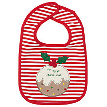 Buy John Lewis Baby My First Christmas Bib Online at johnlewis.com