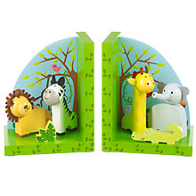 Buy Orange Tree Wooden Safari Bookends Online at johnlewis.com