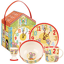 Buy Little Rhymes Hickory Dickory Dock Breakfast Set, 4 Piece, Multi Online at johnlewis.com