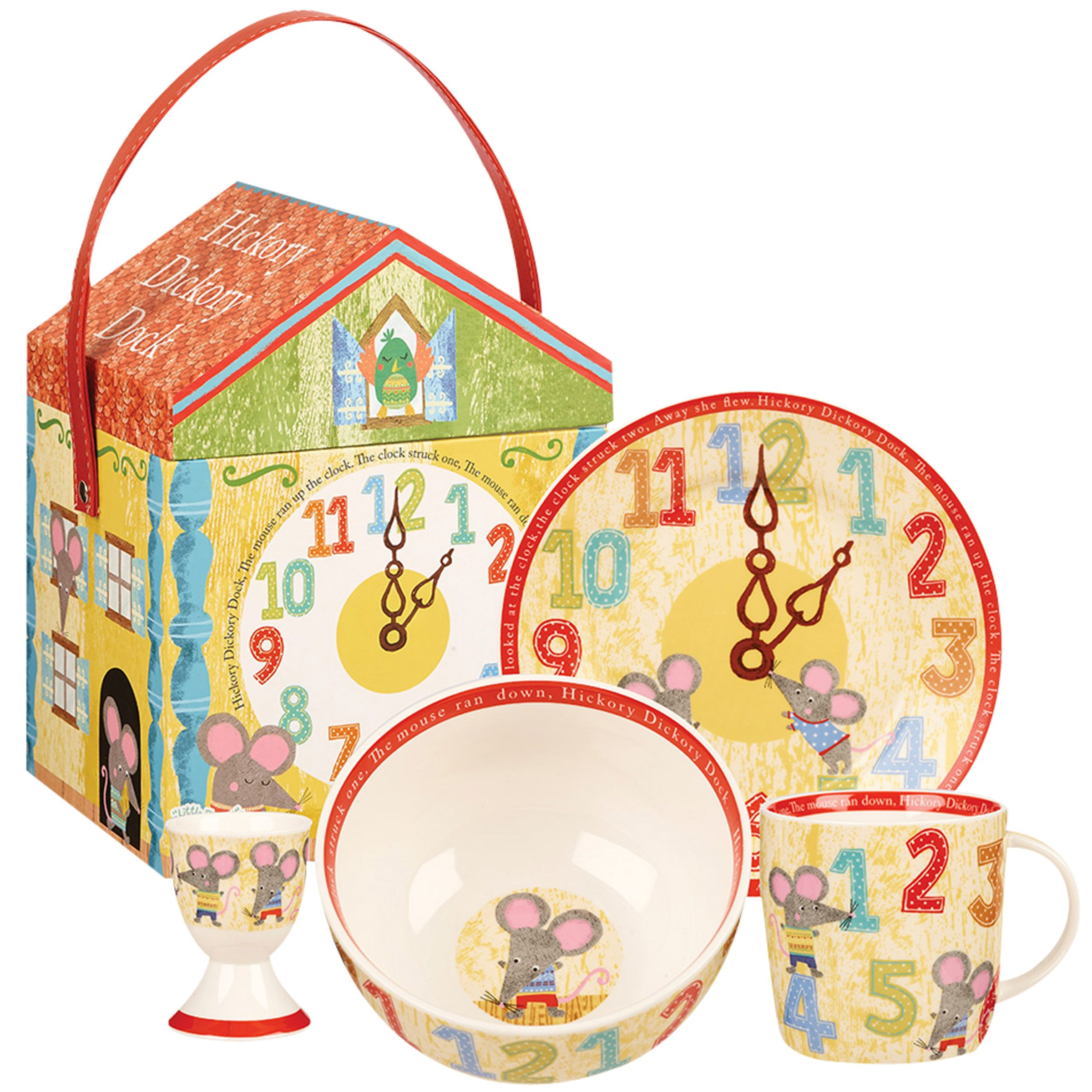 Little Rhymes Little Rhymes Hickory Dickory Dock Breakfast Set, 4 Piece, Multi
