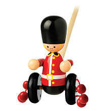 Buy Orange Tree Baby Soldier Push Along Wooden Toy Online at johnlewis.com
