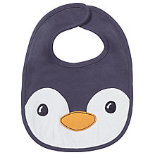 Buy John Lewis Baby Penguin Jersey Bib Online at johnlewis.com