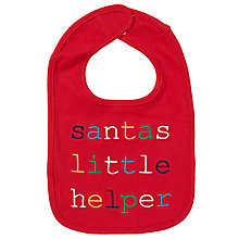 Buy John Lewis Baby Santa's Little Helper Christmas Bib Online at johnlewis.com