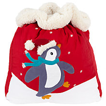 Buy John Lewis Christmas Penguin Sack Online at johnlewis.com
