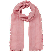 Buy East Crochet Border Linen Scarf Online at johnlewis.com