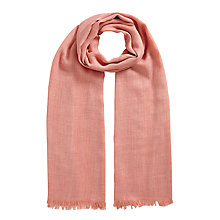 Buy East Wool Blend Scarf, Soft Blush Online at johnlewis.com