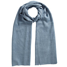 Buy East Wool Blend Scarf, Denim Blue Online at johnlewis.com