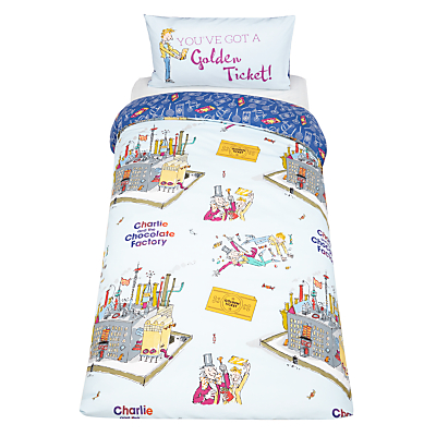 Roald Dahl Willy Wonka Duvet Cover and Pillowcase Set, Single