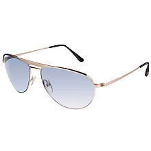 Buy TOM FORD FT207 William Avaitor Sunglasses, Gold/Blue Gradient Online at johnlewis.com