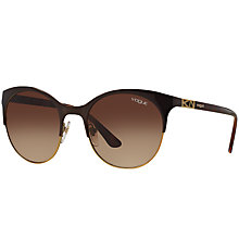 Buy Vogue VO4006S Oval Sunglasses, Brown Gradient Online at johnlewis.com