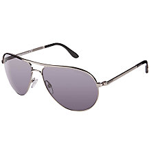 Buy TOM FORD FT0144 Marko Aviator Sunglasses, Silver/Mauve Online at johnlewis.com