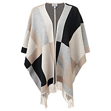 Buy Pure Collection Cashmere Campion Wrap Cardigan, Neutral/Black Online at johnlewis.com