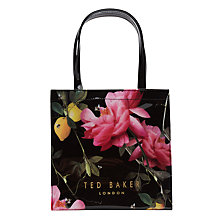 Buy Ted Baker Izzicon Citrus Bloom Small Icon Shopper Bag, Black Online at johnlewis.com
