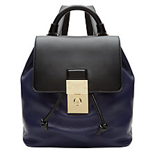 Buy Ted Baker Nahra Leather Backpack, Dark Blue Online at johnlewis.com