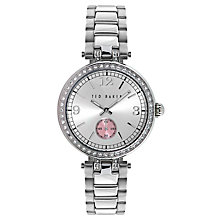 Buy Ted Baker TE10023475 Women's Lotte Crystal Bracelet Strap Watch, Silver Online at johnlewis.com