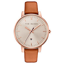 Buy Ted Baker Women's Kate Date Leather Strap Watch Online at johnlewis.com