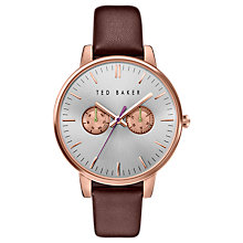 Buy Ted Baker Women's Liz Day Leather Strap Watch Online at johnlewis.com