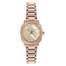 Buy Ted Baker TE10024720 Women's Victoria Crystal Bracelet Strap Watch, Rose Gold/Mother of Pearl Online at johnlewis.com