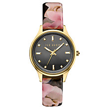 Buy Ted Baker Women's Josie Date Floral Leather Strap Watch Online at johnlewis.com
