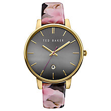 Buy Ted Baker Women's Rose Date Floral Leather Strap Watch Online at johnlewis.com
