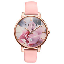 Buy Ted Baker TE10030745 Women's Katie Date Leather Strap Watch, Pink/Multi Online at johnlewis.com