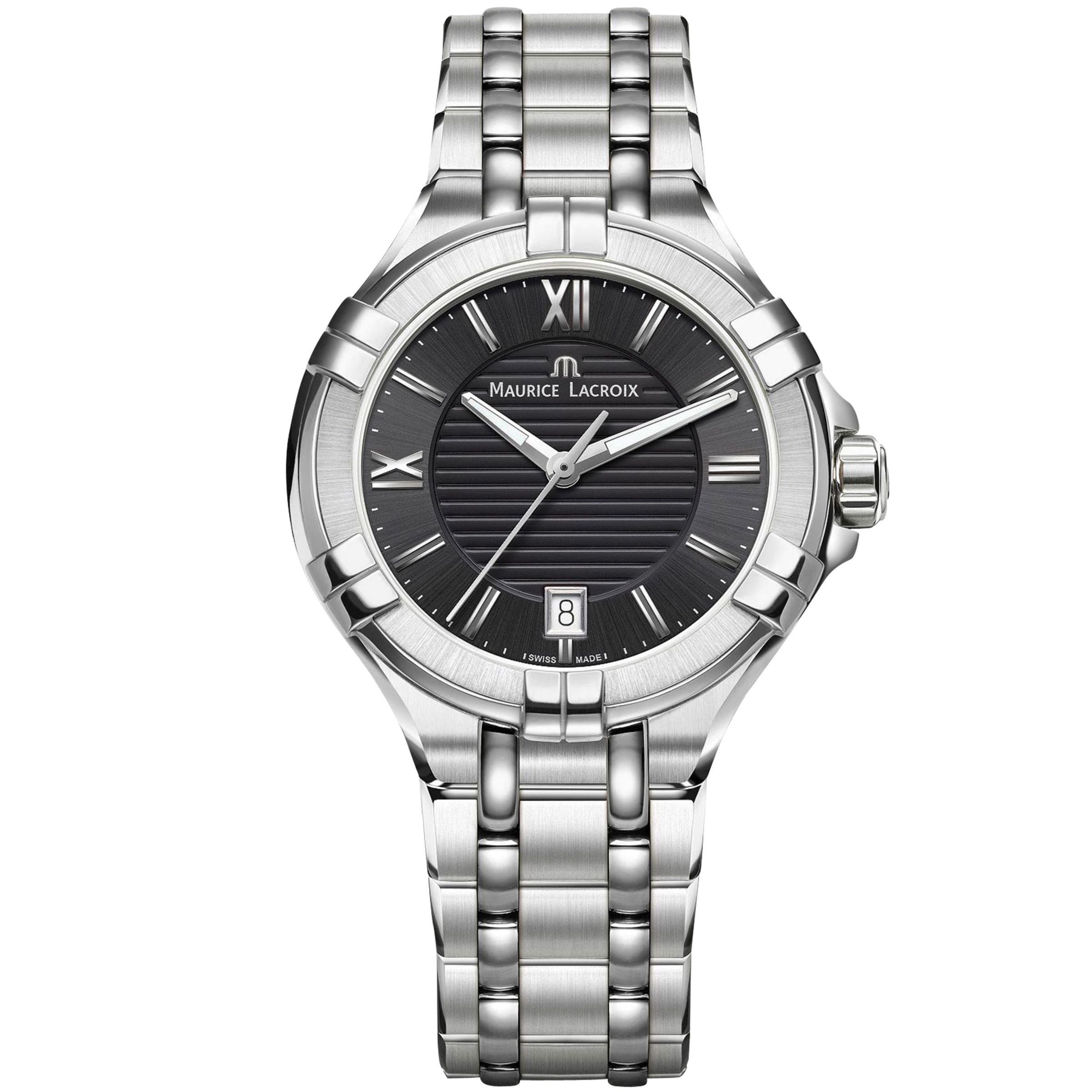 Maurice Lacroix Maurice Lacroix AI1006-SS002-330-1 Men's Stainless Steel Bracelet Strap Watch, Steel