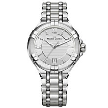 Buy Maurice Lacroix AI1006-SS002-130-1 Women's Aikon Date Bracelet Strap Watch, Silver Online at johnlewis.com