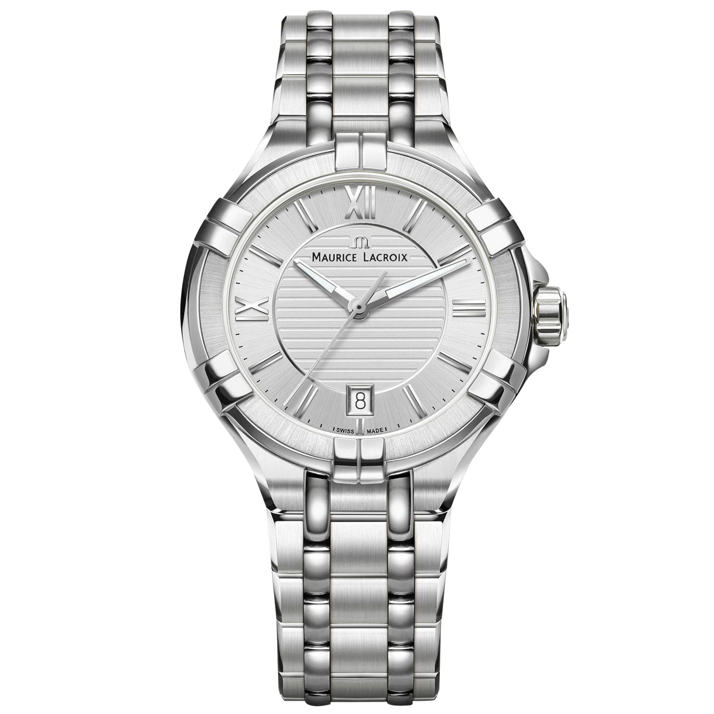 Maurice Lacroix Maurice Lacroix AI1006-SS002-130-1 Women's Aikon Date Bracelet Strap Watch, Silver