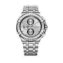 Buy Maurice Lacroix AI1018-SS002-130-1 Men's Aikon Chronograph Date Bracelet Strap Watch, Silver Online at johnlewis.com