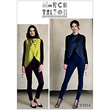 Buy Vogue Misses' Women's Tulip Hem Vests and Trousers Sewing Pattern, 9216 Online at johnlewis.com