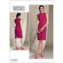 Buy Vogue Misses' Women's Asymmetrical Drape Sleeveless Dress Sewing Pattern, 1513 Online at johnlewis.com