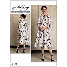 Buy Vogue Misses' Women's Half Placket Shirt Dress Sewing Pattern, 1511 Online at johnlewis.com