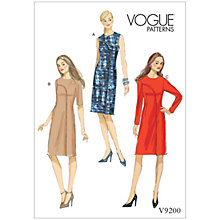 Buy Vogue Misses' Women's Asymmetrical Overlay Dresses Sewing Pattern, 9200 Online at johnlewis.com