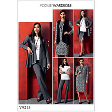 Buy Vogue Misses' Women's Outfits Sewing Pattern, 9215 Online at johnlewis.com