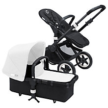 Buy Bugaboo Buffalo Pushchair Base and Carrycot 2016, Black/Black Online at johnlewis.com
