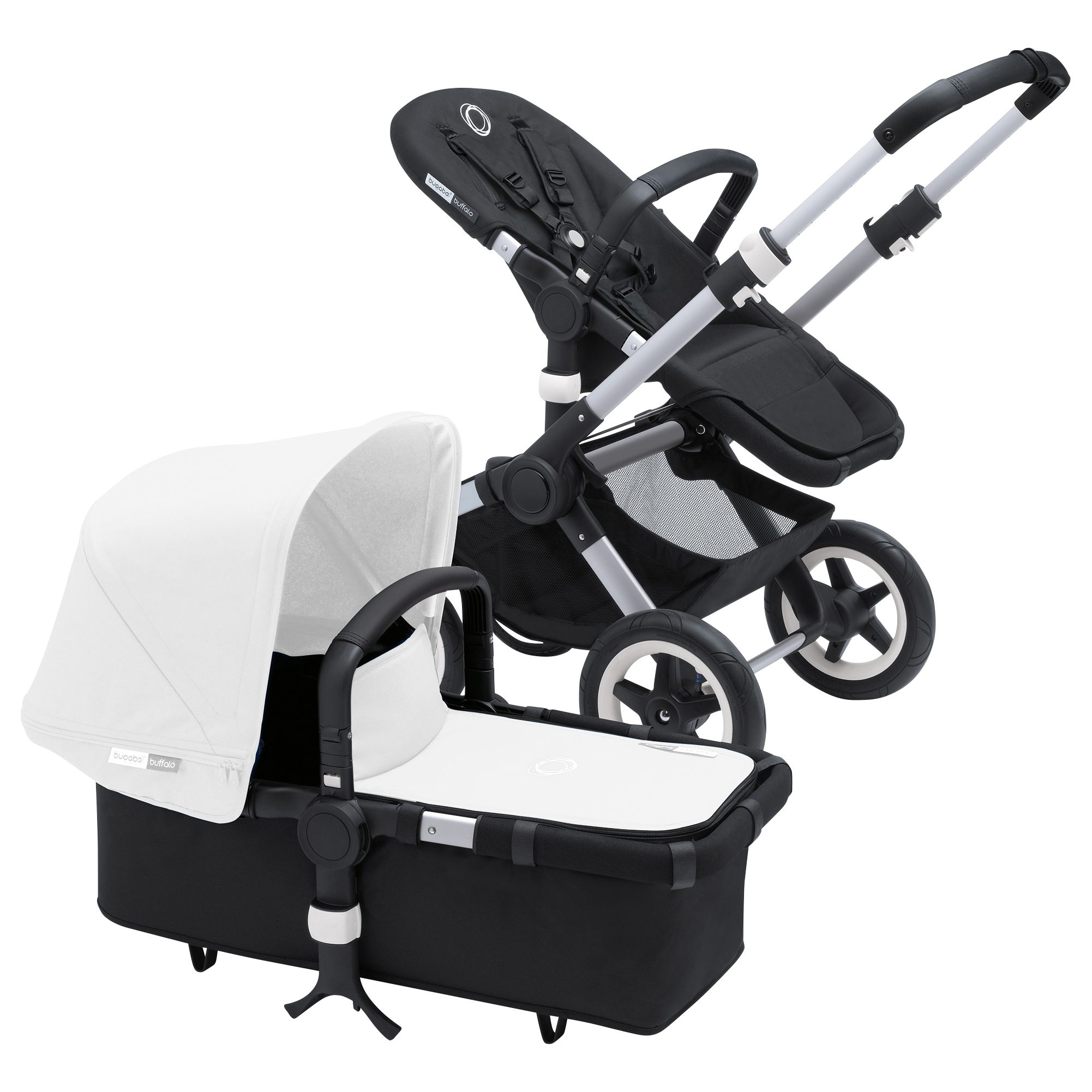 Bugaboo Bugaboo Buffalo Pushchair Base 2016, Black/Silver