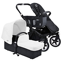Buy Bugaboo Donkey Base Pushchair Chassis and Carrycot 2016, Black/Black Online at johnlewis.com