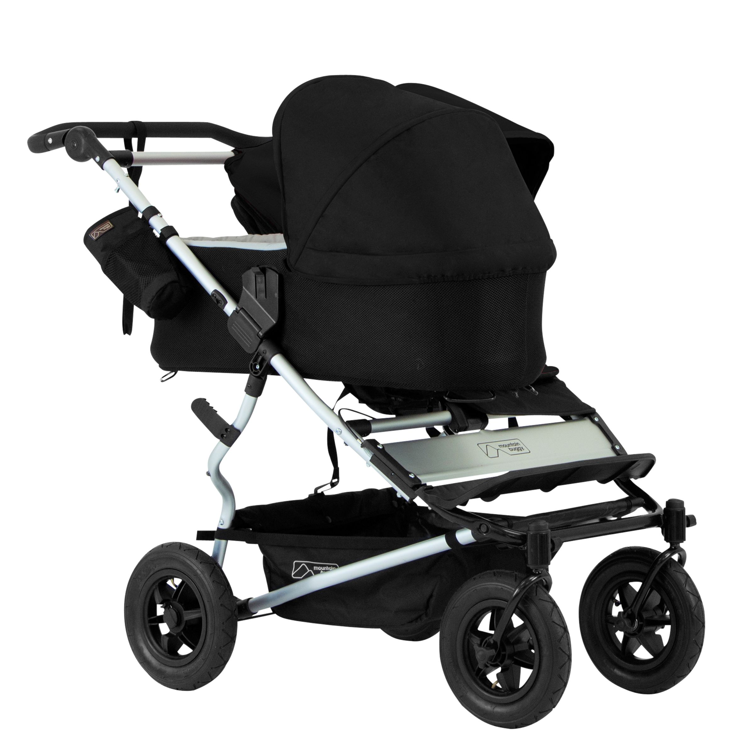 Mountain Buggy Mountain Buggy Duet Single Family Pack Pushchair, Black